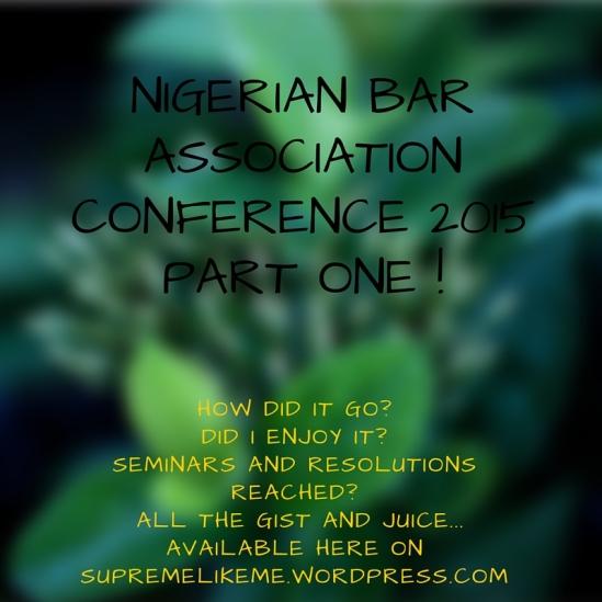 Nigerin bar association conferencepart one