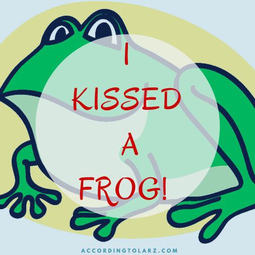 kissed frog